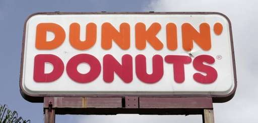 A Dunkin' Donuts sign at a store in