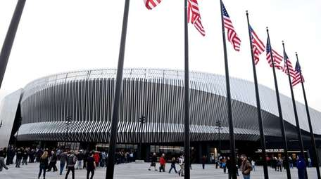 Fans file into NYCB Live's Nassau Coliseum for