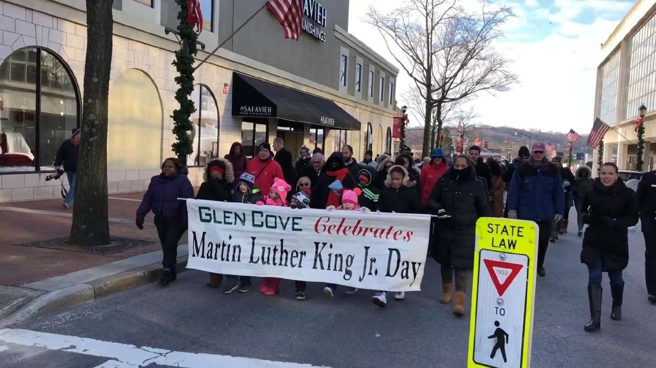 On Monday, Jan 15, 2018, hundreds marched in the