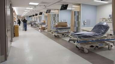 Southside Hospital's emergency room expansion, seen on Jan.
