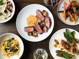 Dishes from chef Peter Mistretta at Perennial, which