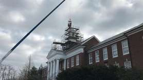 A new cupola and state-of-the-art clock were installed at the