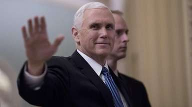 Vice President Mike Pence, seen here on Jan.