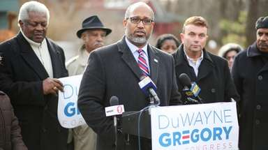 Democrat DuWayne Gregory, presiding officer of the Suffolk