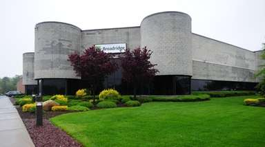 Broadridge Financial Solutions headquarters in Edgewood, on May