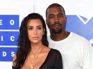 Kim Kardashian West and Kayne West attend the