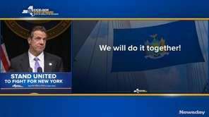 Gov. Andrew M. Cuomo talked about tackling some