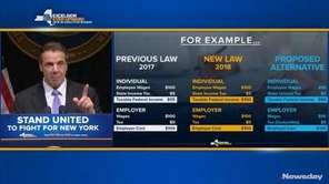 Gov. Andrew M. Cuomo talked about his proposed