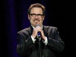 Comedian Dennis Miller pictured performing in Tennessee in