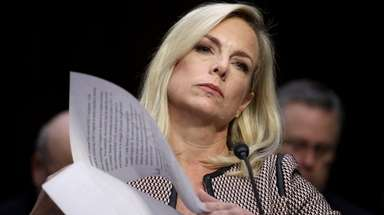 Homeland Security Secretary Kirstjen Nielsen testifies during a