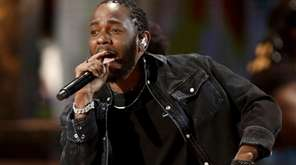 Kendrick Lamar performs during the BET Awards at