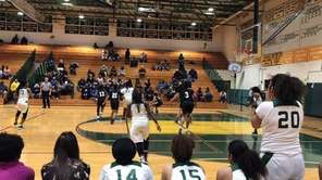 The Longwood girls basketball team defeated Brentwood, 48-40,