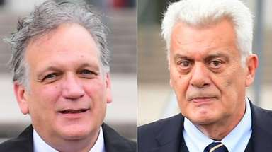 Former Nassau County Executive Edward Mangano, left, and