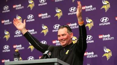 Minnesota Vikings coach Mike Zimmer following a 29-24