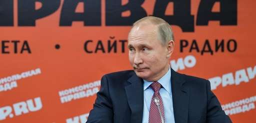 Russian President Vladimir Putin speaks during a meeting