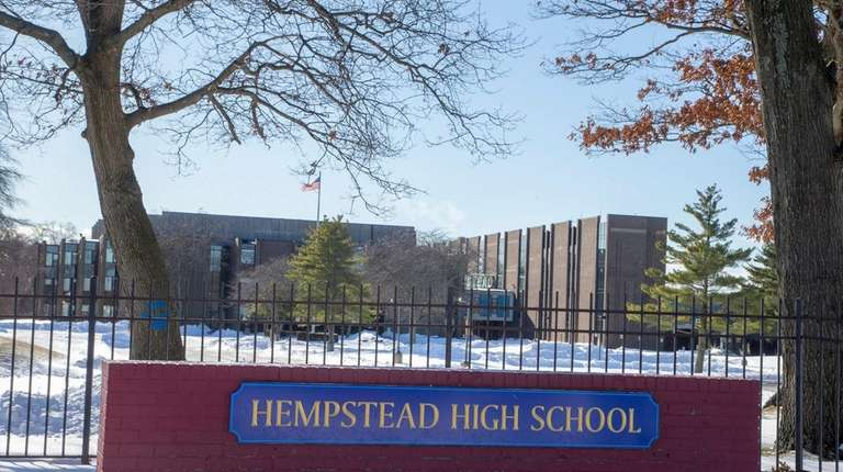 Hempstead High School on Jan. 6, 2018, in