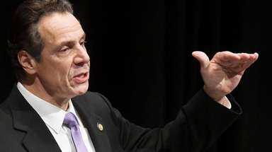 New York Gov. Andrew Cuomo delivers his 2018