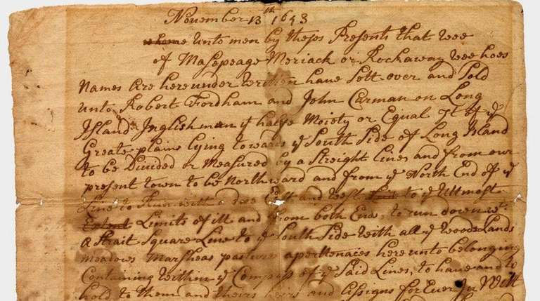 A town clerk's copy of the deed for
