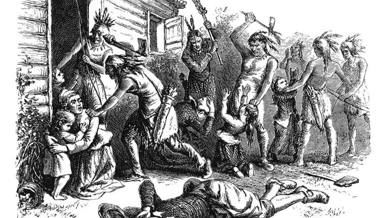 English religious dissenter Anne Hutchinson and five of