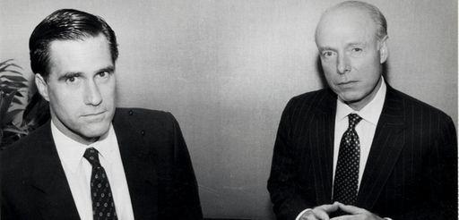 Mitt Romney, left, and William Bain Jr. at