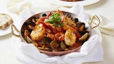 Shellfish fra diavolo at Franina in Syosset is