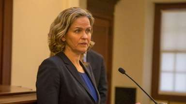 Nassau County Executive Laura Curran is seen on