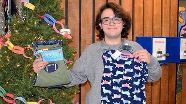 Nicholas Sidorowicz ran a pajama and blanket drive