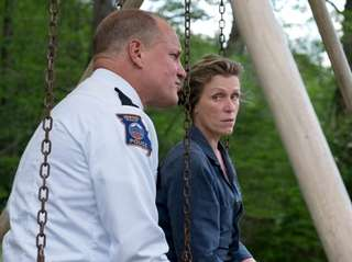Woody Harrelson, left, and Frances McDormand in