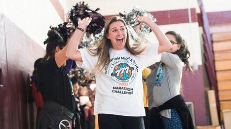 Marathoner and teacher Cara Nelson gets a send-off