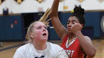 Massapequa center Meghan Wildes shoots for a basket