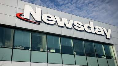 Newsday's headquarters in Melville is seen on Friday,