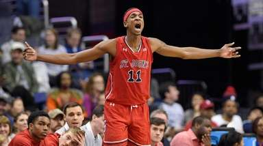 St. John's forward Tariq Owens, who had 17