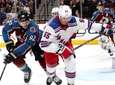Gabriel Landeskog of the Avalanche races for the