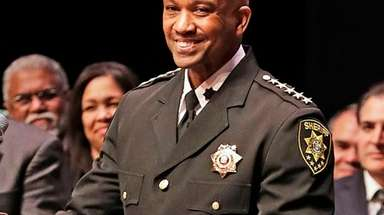 Newly elected Suffolk County Sheriff Errol Toulon Jr.