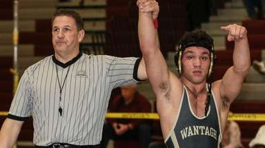 Wantagh's Matt Rogers is victorious in the 170