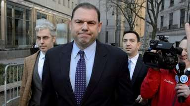 Joseph Percoco leaves a federal courthouse in Manhattan
