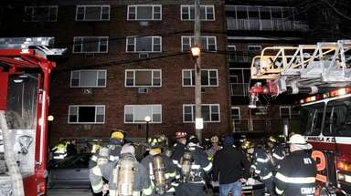 Residents were evacuated after a fire broke out