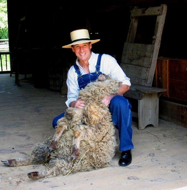 Nassau County Executive Thomas Suozzi wears 18th-century clothing