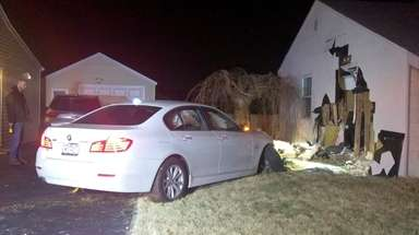 A car crashed into a Bethpage home around