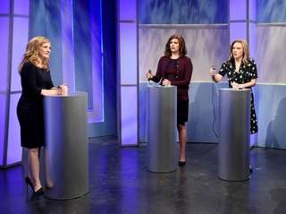Jessica Chastain, Cecily Strong, Kate McKinnon and Kenan