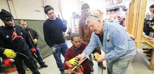 James Ludwig, right, a member of Plumbers Local