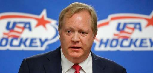 Jim Johannson speaking during a news conference in