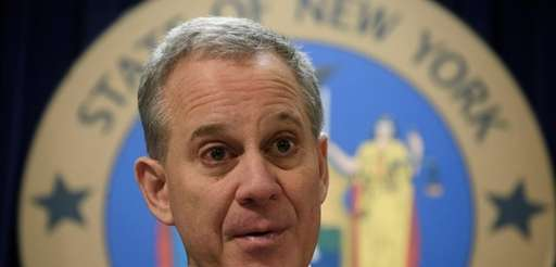 Attorney General Eric T. Schneiderman at a news