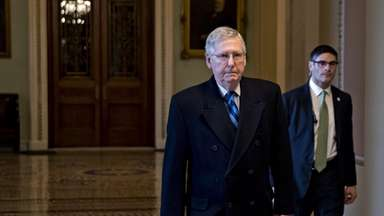 Senate Majority Leader Mitch McConnell, on Sunday, Jan.