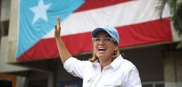San Juan Mayor Carmen Yulin Cruz speaks to