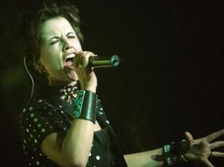 Dolores O'Riordan of Irish music group The Cranberries