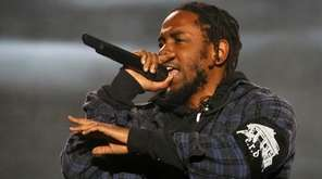 Kendrick Lamar performs on the second day of