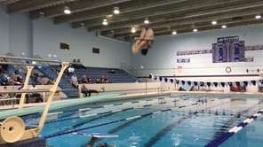 Sean Rorke set a new Hauppauge boys six-dive