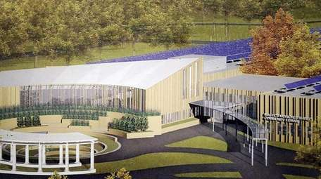 An artist's rendering of the proposed new library.