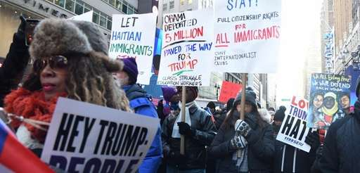 The Rally Against Racism in Times Square drew